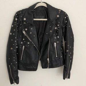 Blank NYC studded leather jacket